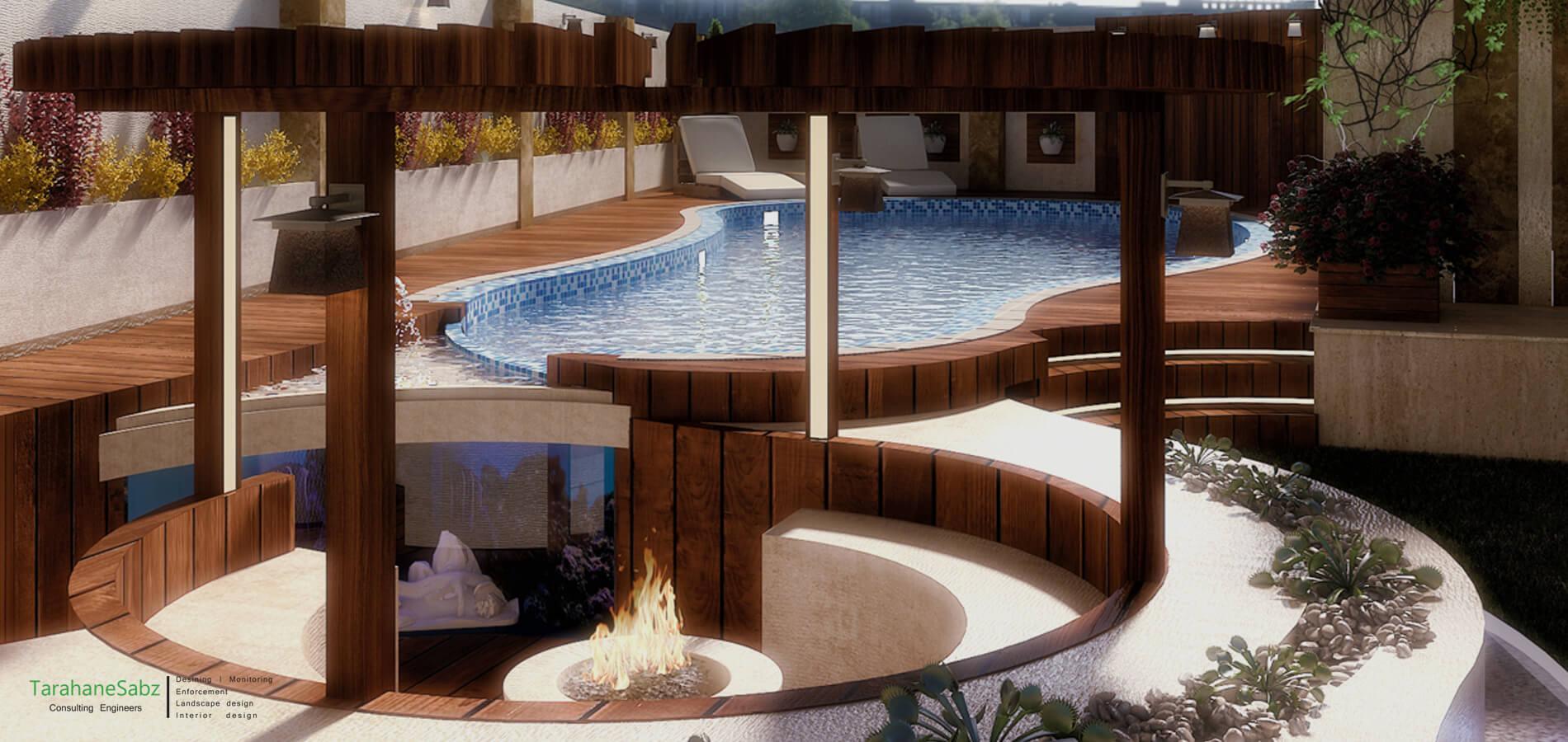 طراحی باغ - محوطه سازی - طراحان سبز